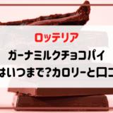 ロッテリアガーナミルクチョコレートパイカロリー